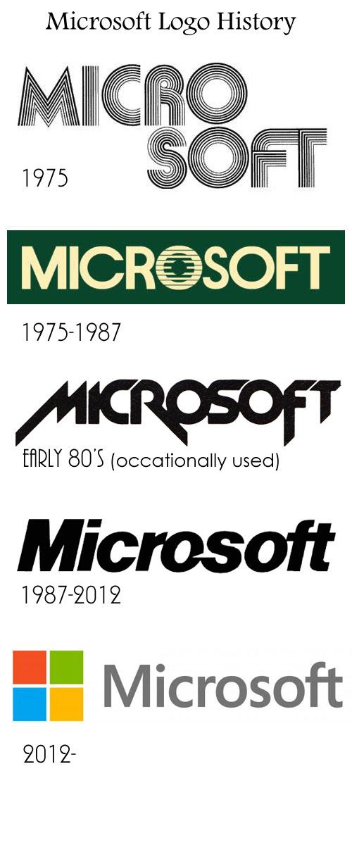 마이크로소프트 로고 히스토리